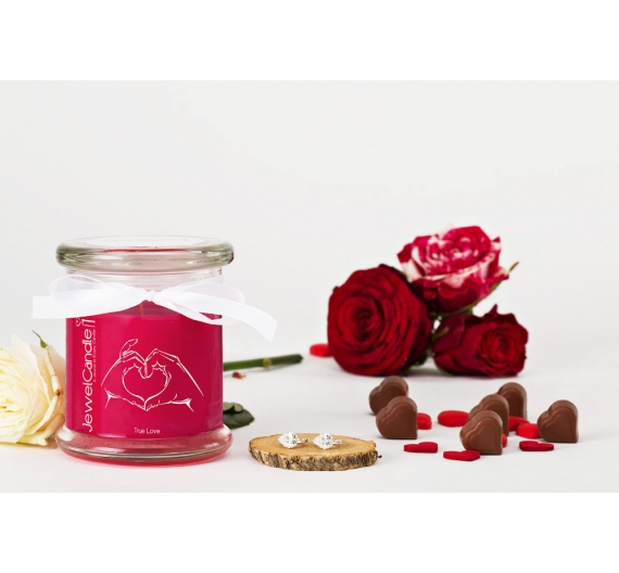 Bougie bijou boucles d'oreilles Jewel candle True love 45H