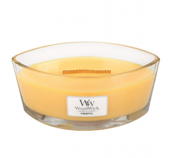 Bougie parfumée Woodwick ellipse Pineapple 50H