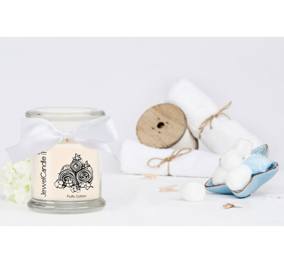 Bougie bijou boucles d'oreilles Jewelcandle Fluffy cotton 45H